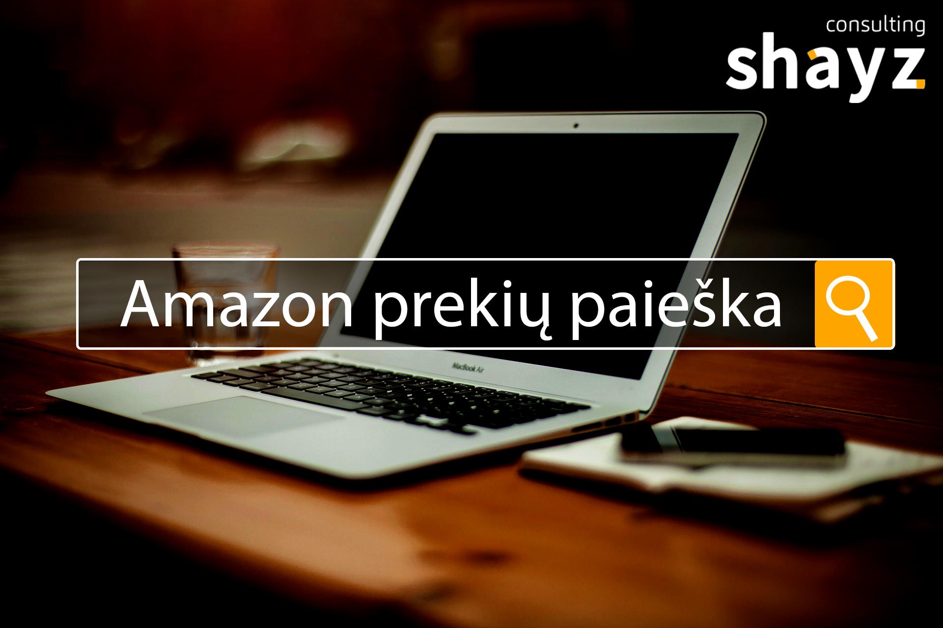 """""""Amazon"""" prekių paieška"""