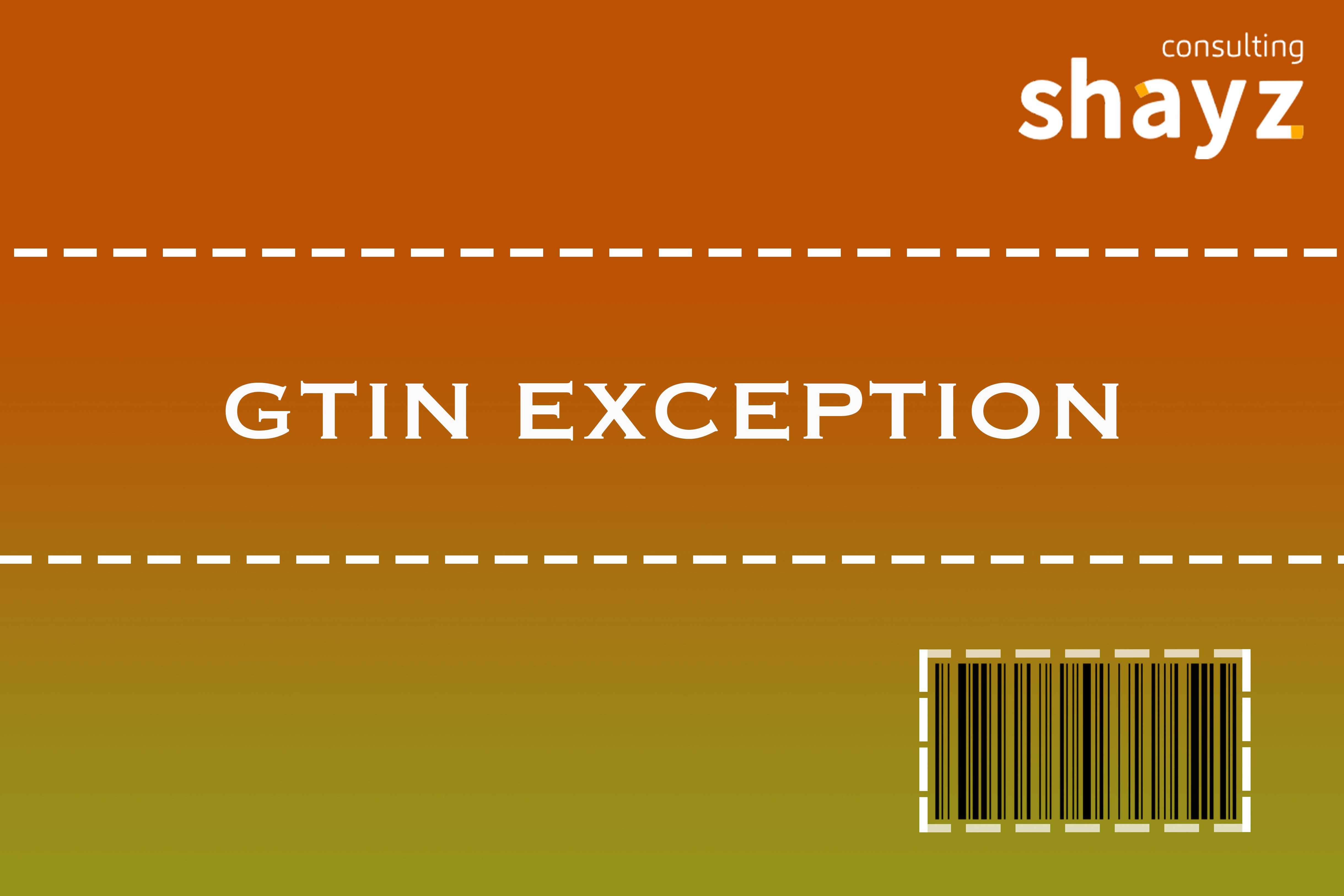 """GTIN Exception"" programa"