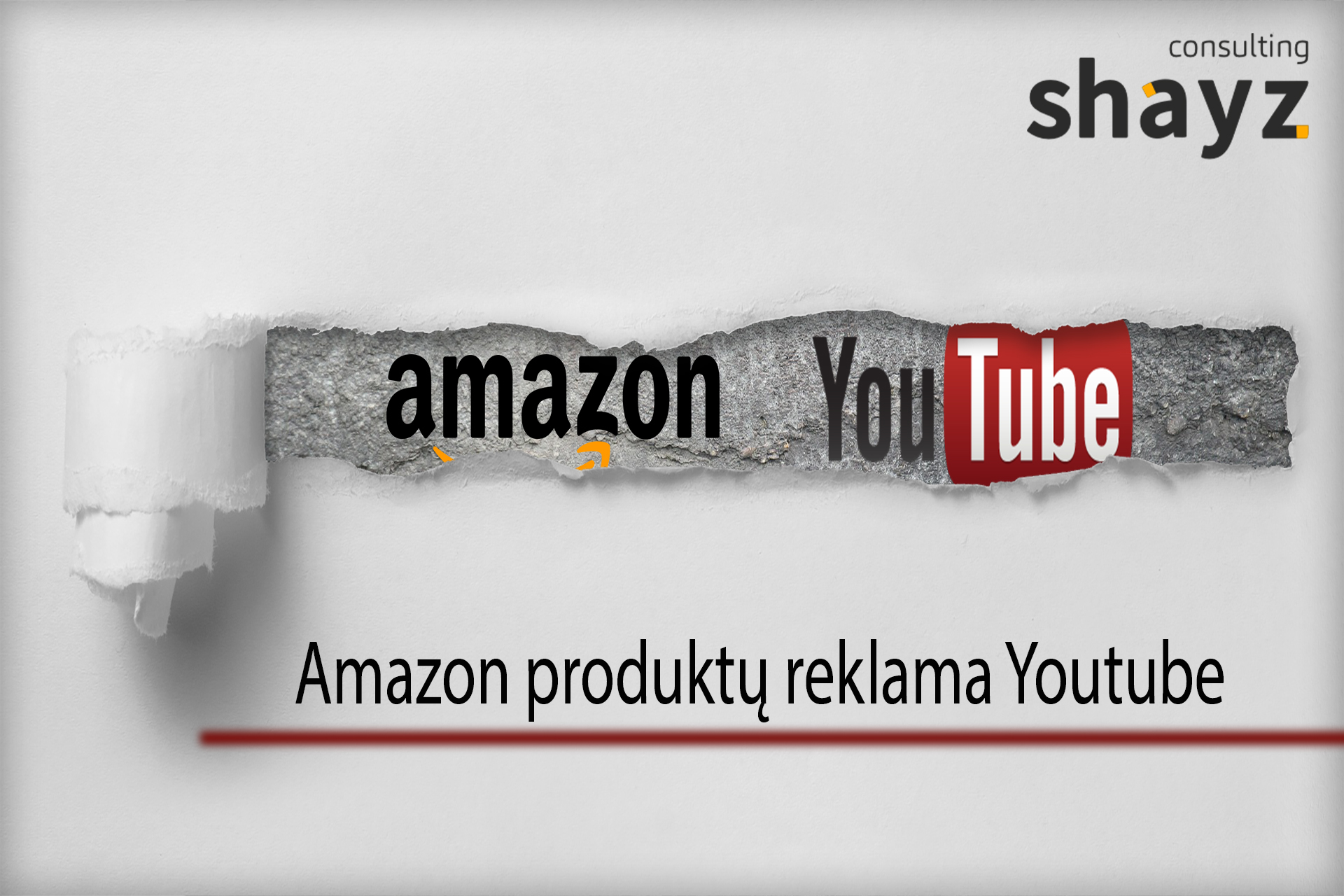 """Amazon"" produktų reklama ""YOUTUBE"""