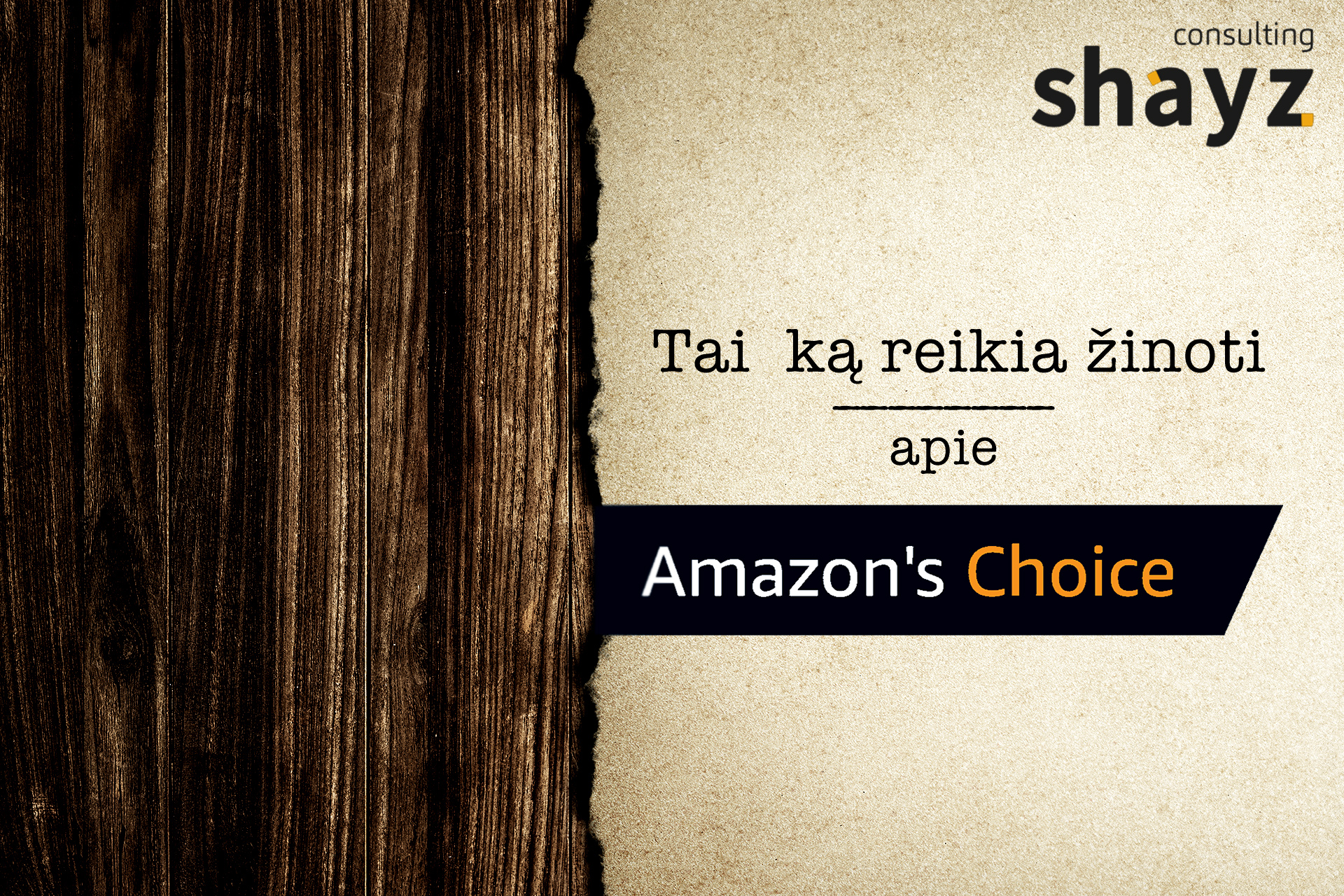 """Amazon's Choice"" ženkliukas"