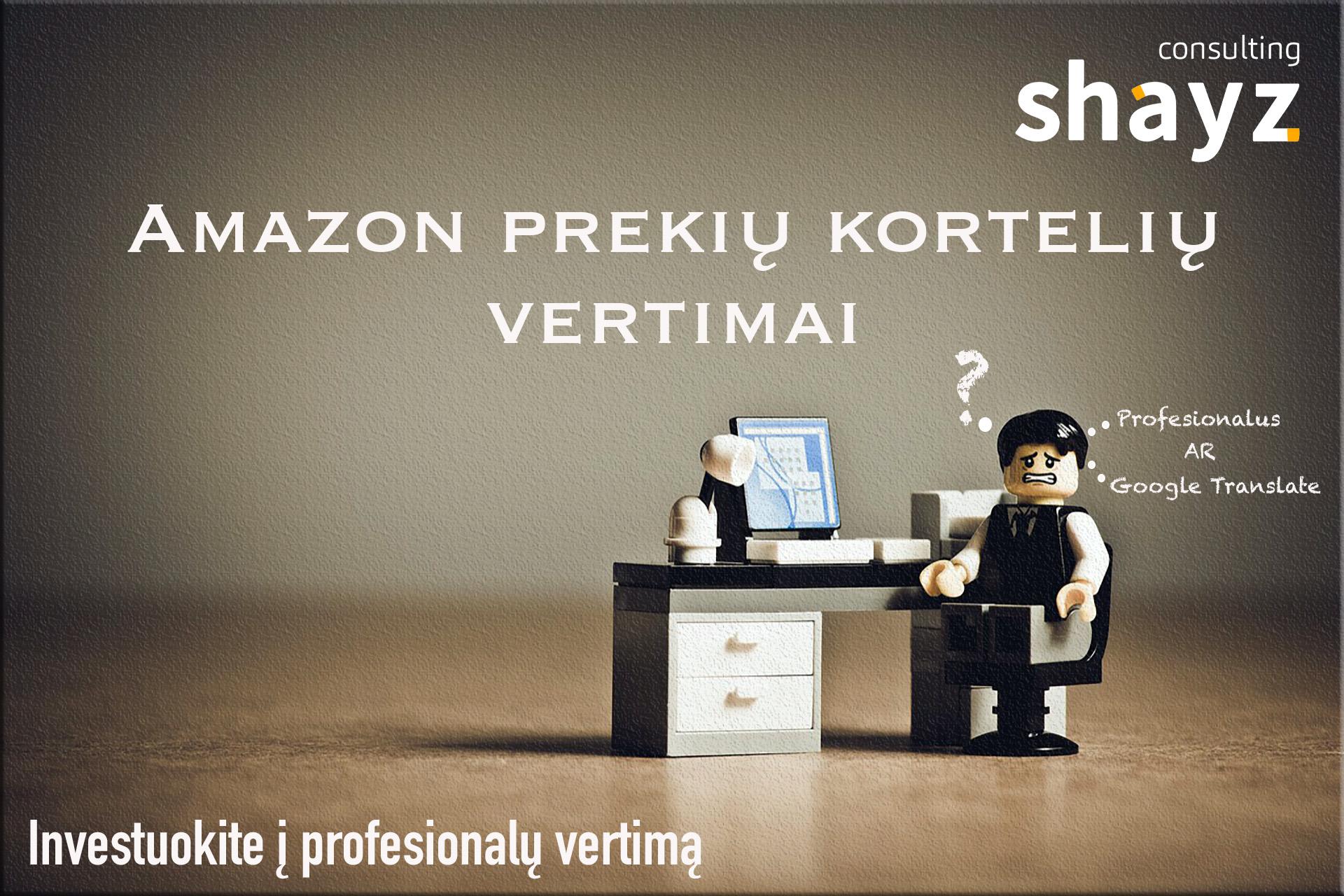 Amazon Prekių Kortelių Vertimai