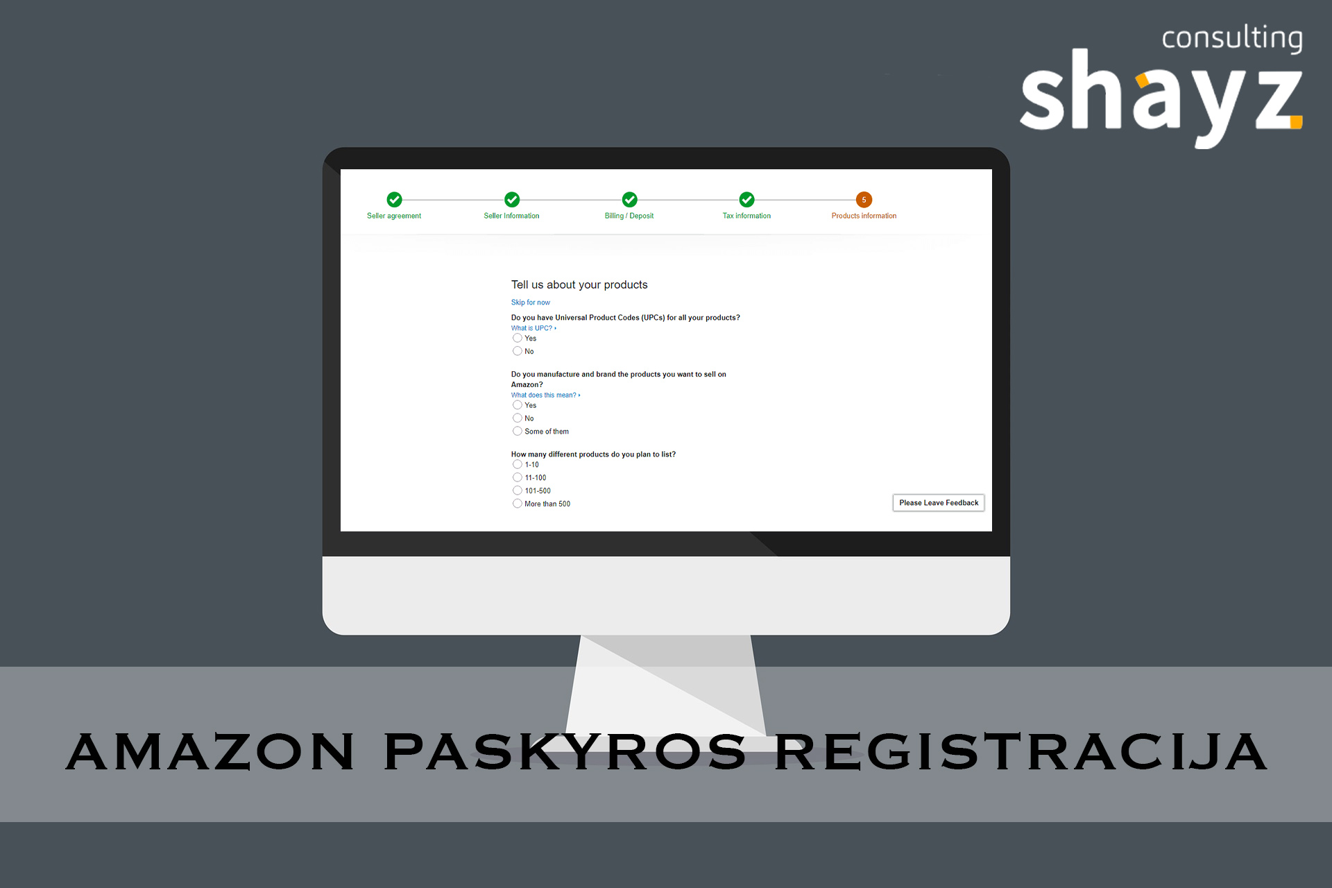 Amazon Paskyros Registracija